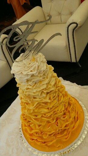 Yellow Rose Wedding Cake. Www.lamori.co.za