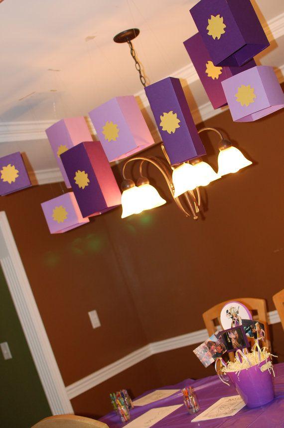 Rapunzel Tangled Birthday Party Lanterns Decorations