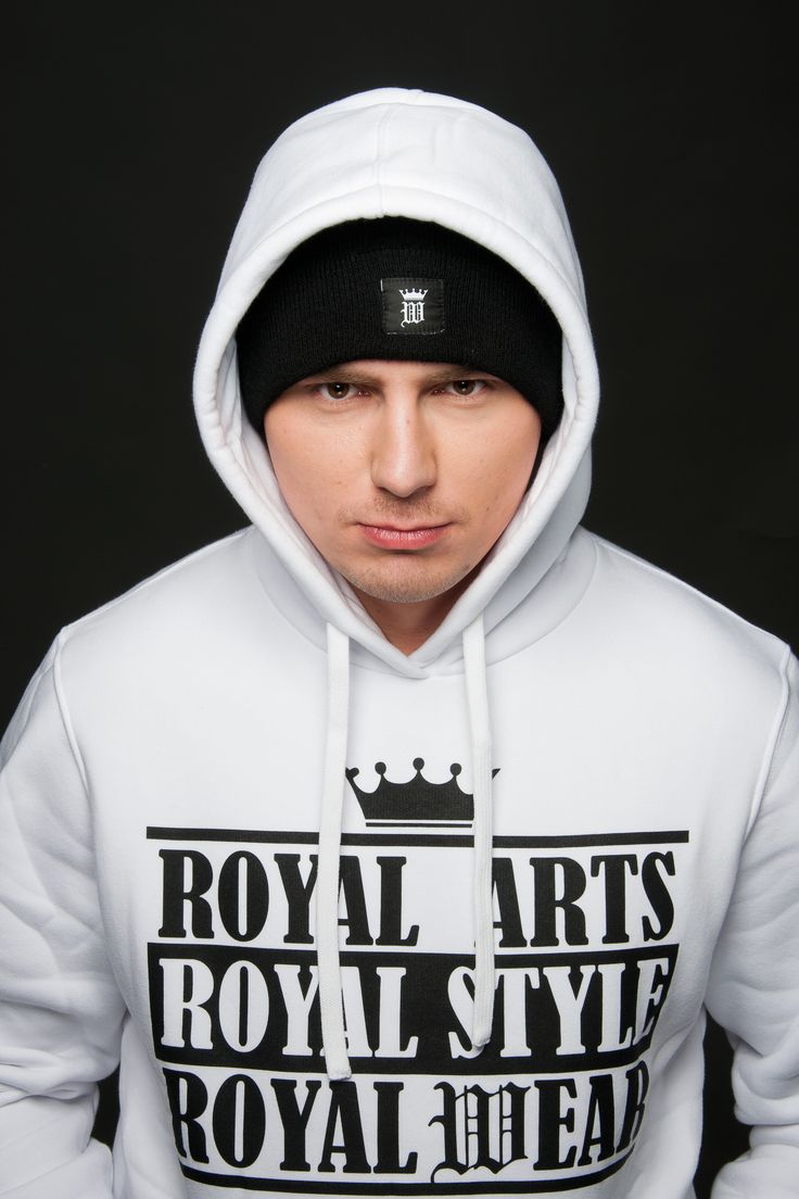 White mens hoodie by Royal Arts Style #royalwear