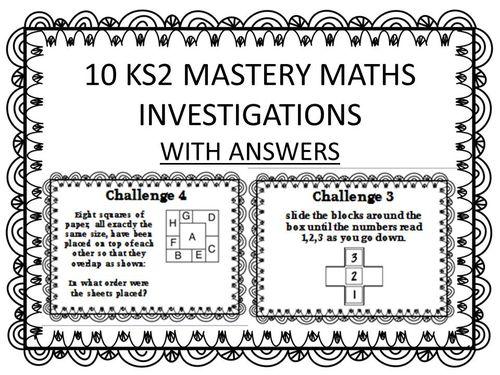 10 KS2 MATHS MASTERY INVESTIGATIONS