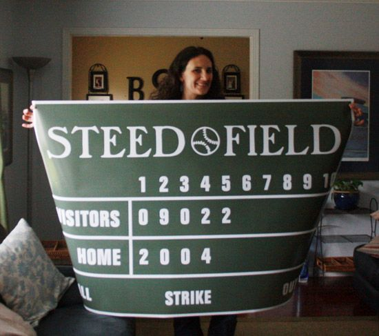 Video Tutorial - How to Personalize a Giant Baseball Scoreboard Poster.