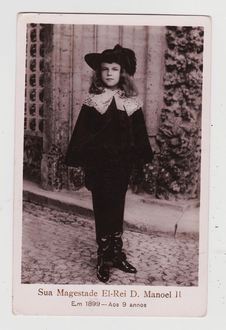 Portugal King Manuel II at 9 Years Old in 1899 Last King of Portugal C 1906