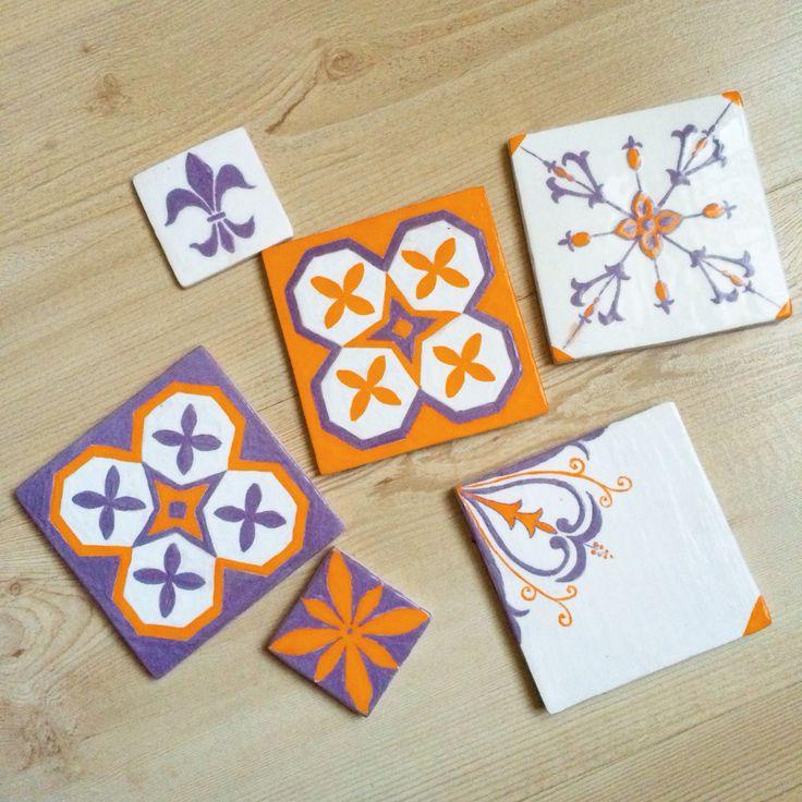 Handmade tile #tiles#ceramics#ceramica