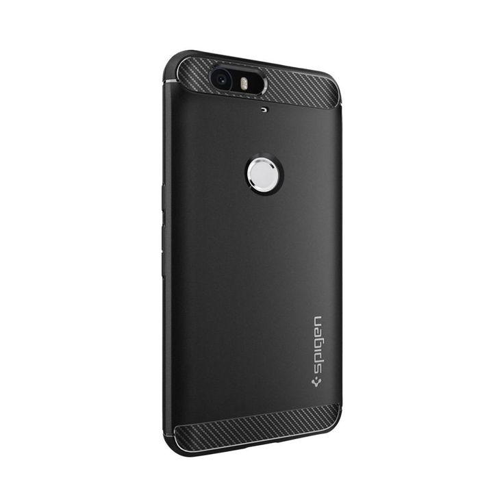 Spigen - Rugged Armor Case for Google Nexus 6P - Black