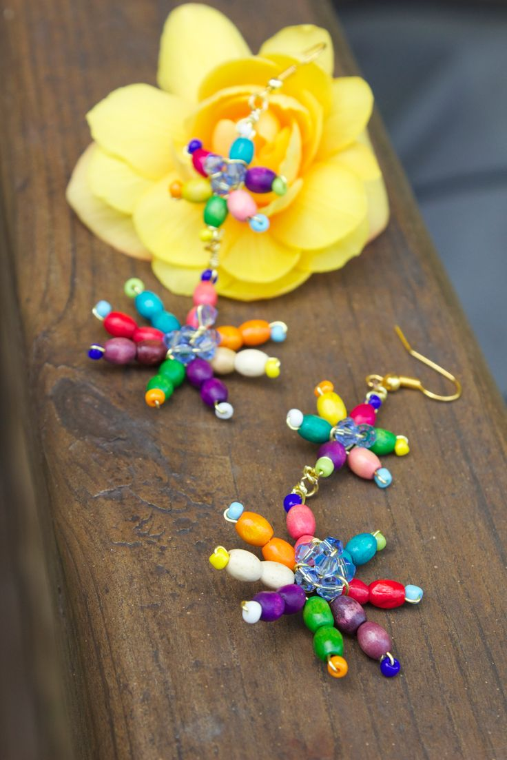 Quiet Lion Creations by Allison Beth Cooling: firecracker daisy earrings +diy