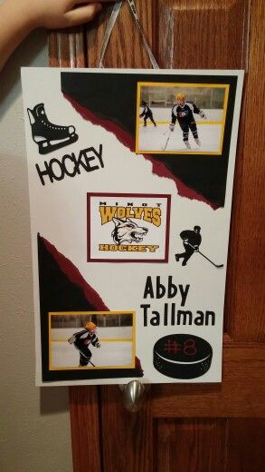 Hockey tournament door signs!
