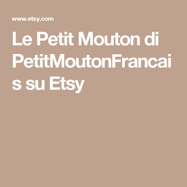 Le Petit Mouton di PetitMoutonFrancais su Etsy