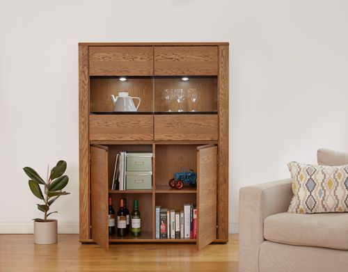 Olten - Low Display Cabinet #oak #wood #furniture #home #interior #decor #interiorinspiration #livingroom #diningroom #kitchen #lounge #house #cabinet