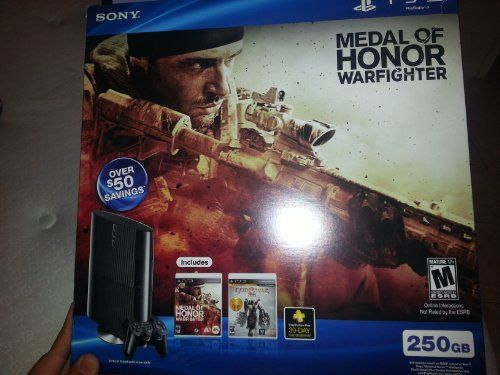 PS3 Slim 250GB Medal of Honor: Warfighter Bundle (PlayStation 3)  http://www.cheapgamesshop.com/ps3-slim-250gb-medal-of-honor-warfighter-bundle-playstation-3/