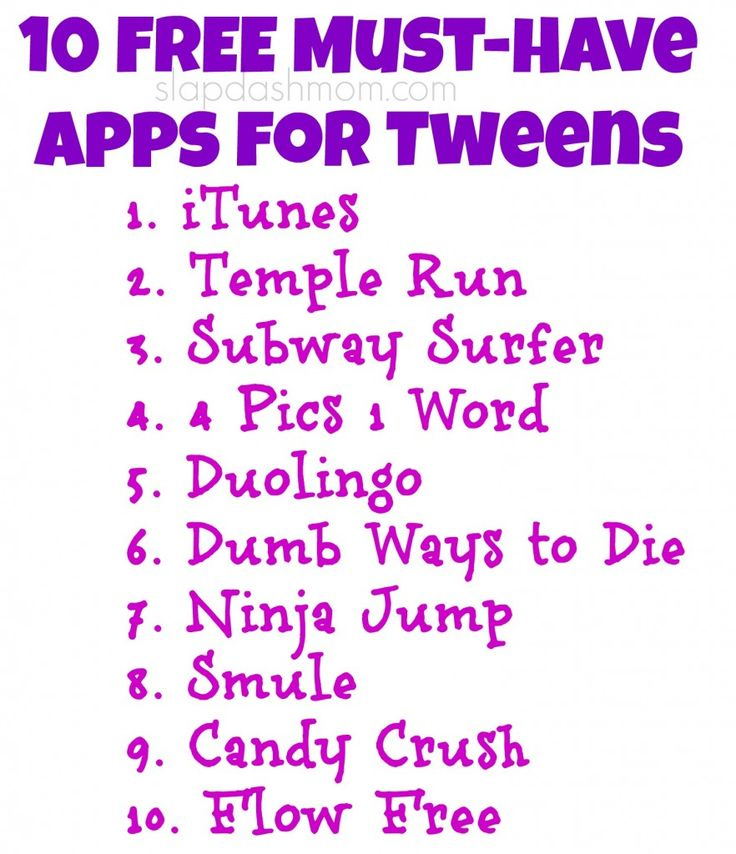 10 Free Must-Have Apps for Tweens #shop #FamilyMobileSaves