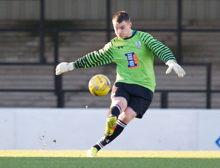 Queen's Park keeper Wullie Muir in action during the Scottish Cup round 4 game between Ayr United and Queen's Park
