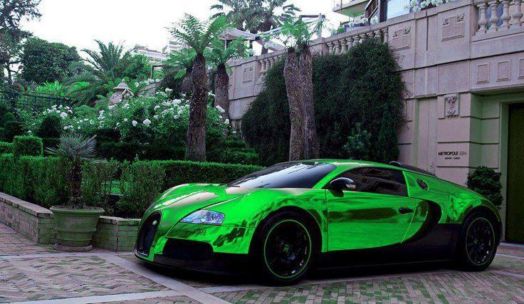 Metallic Green Bugatti Evan's things Pinterest Green