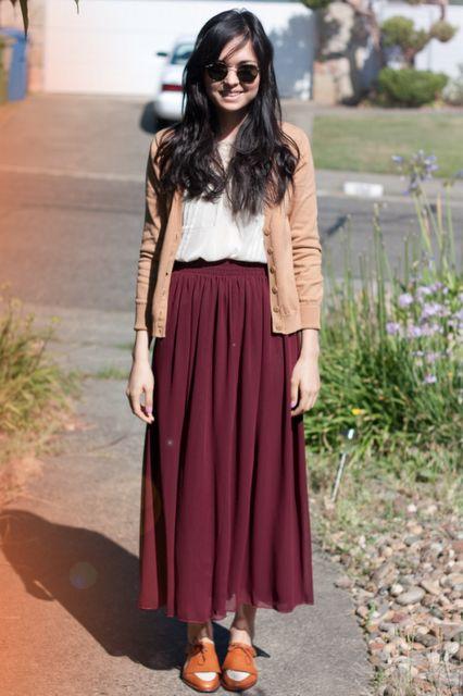 // maxi skirt: american apparel//