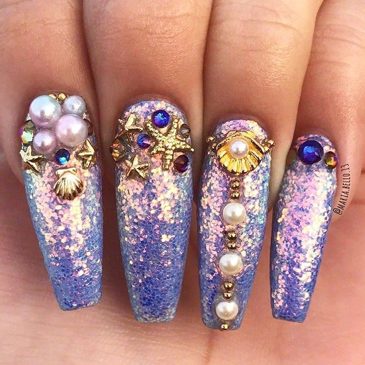 The 43 best Glitter Nails images on Pinterest | Glitter nails ...