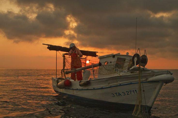 De pesca per la badia dels Alfacs.