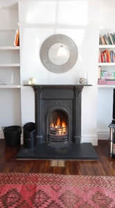 Here is an ornate, Victorian, fireplace - for the more traditional home.