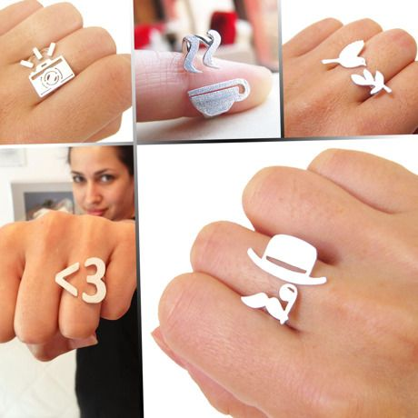 Monoco | イベント | Smiling Silver Smith http://de.dawanda.com/product/24817597-Ich-liebe-dich-3---Handmade-Silber-Ring
