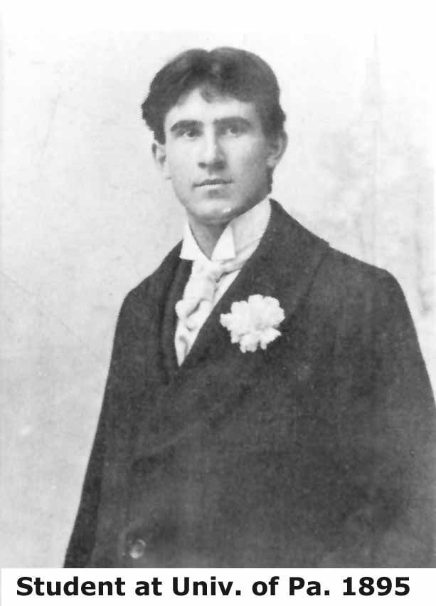 Pearl Zane Gray was born in Zanesville, Ohio in 1872 and went to the University of Pennsylvania Dental School under name Pearl Zane Grey. Zane played baseball of the varsity team. Graduated 1896 and moved to New York City.