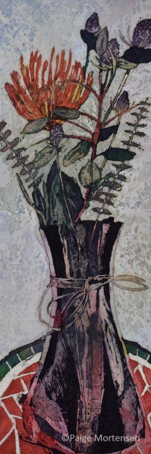 """Protea ©Paige Mortensen Watercolour 8x24"""" $300"""