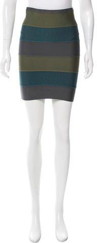 Proenza Schouler Striped Bandage Skirt