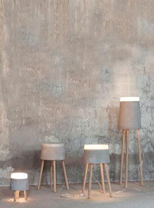 Industriele lampen - betonlook - verlichting - industrieel interieur
