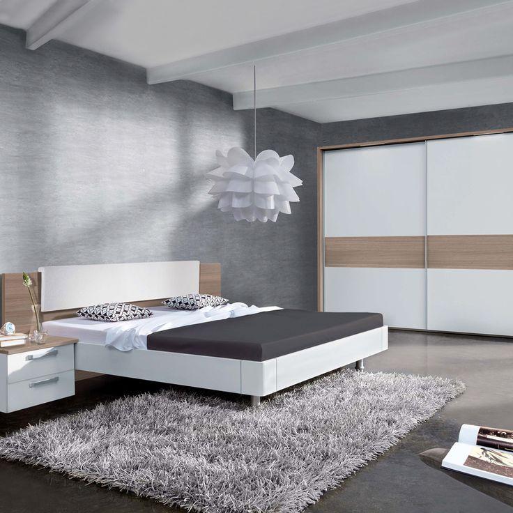 Costco UK - Nolte Mobel Rijeka 4 Piece Bedroom Set - King Size Bed, 290cm Wardrobe & 2 two Drawer Nightstands