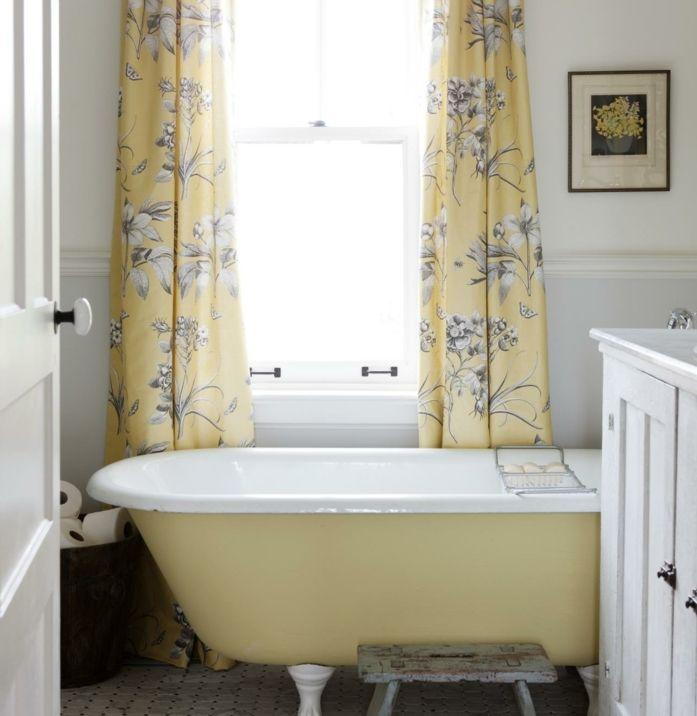 Les 25 meilleures id es de la cat gorie rideaux de - Salle de bain style campagne ...