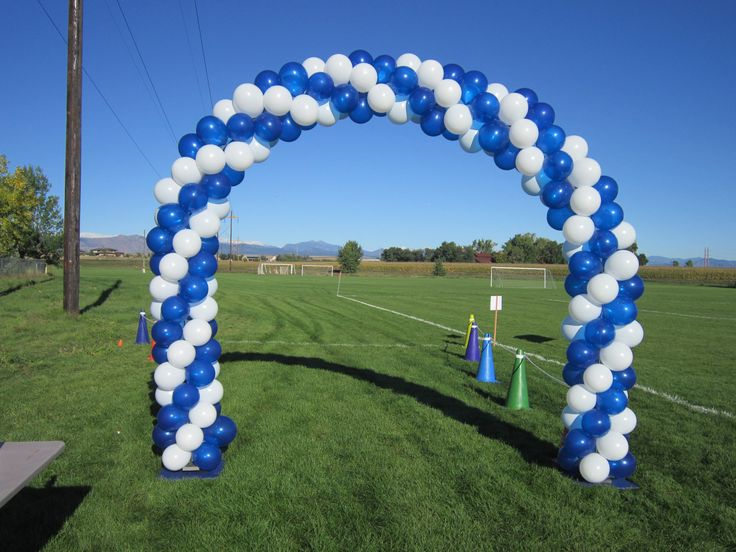 This was used as the start finish line marker for a 5k run for How to start a home decor line