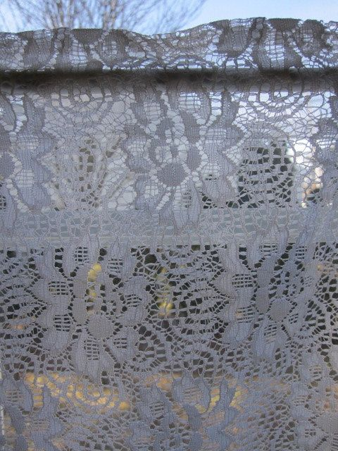 Vintage Lace Curtain Off White Lace Curtain by TheCottageWay, $15.00