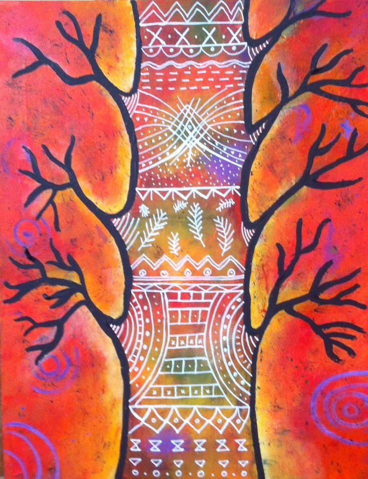 Patricia Rejas árbol naïf (réplica) óleo sobre tela aprox 40x50)