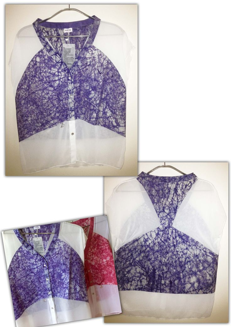 Cracked Purple Blouse