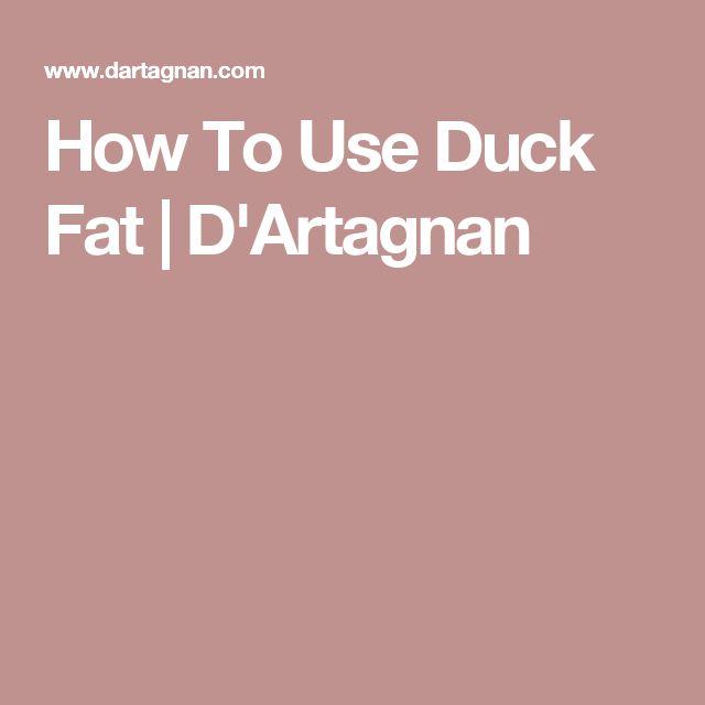 How To Use Duck Fat | D'Artagnan