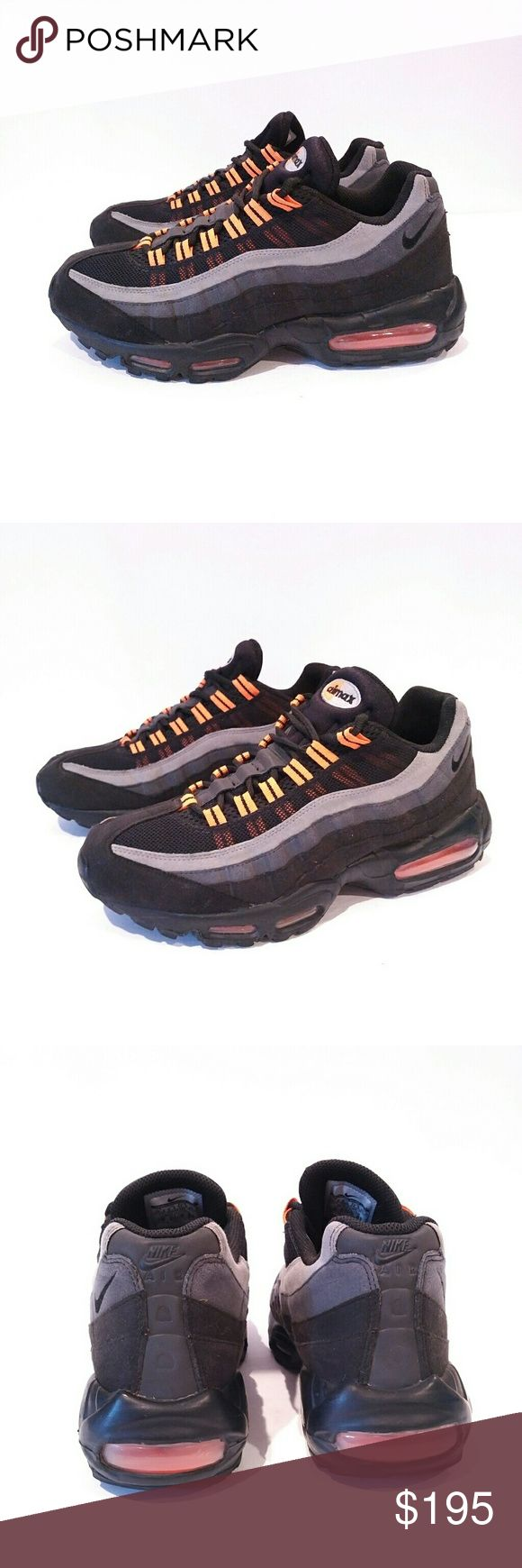 Air Max Mens 10.5 black halloween sneakers