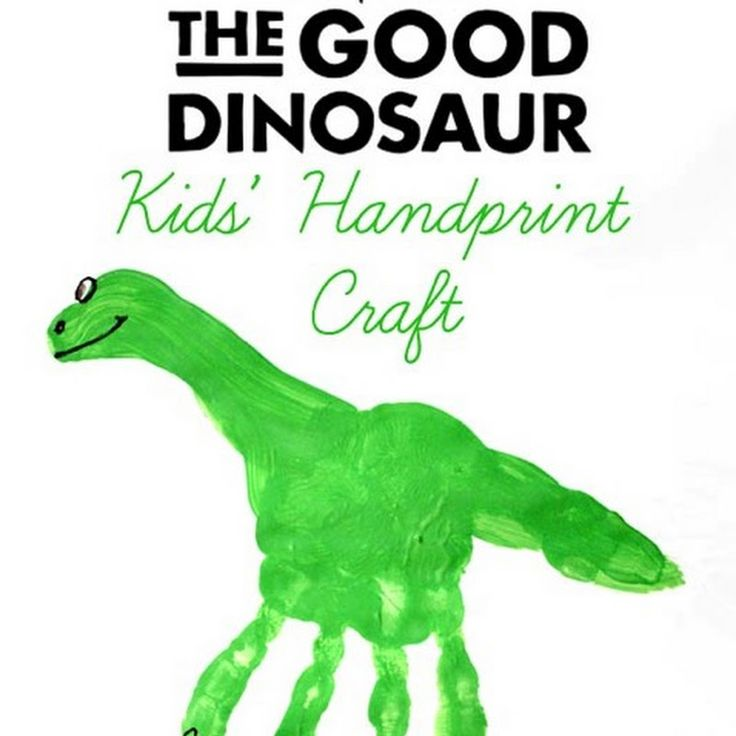 The Good Dinosaur Handprint Craft & Activity Sheets