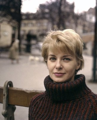 chunky turtleneck - and Joanne Woodward