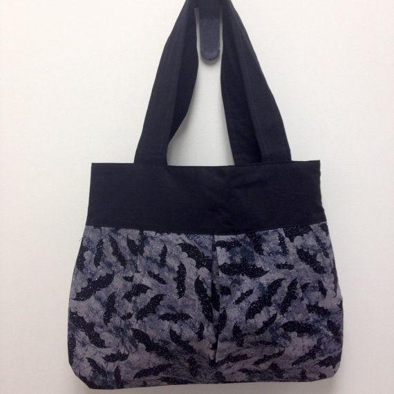 Gris et noir de grande taille Bat sac à bandoulière avec Accents de Sparkle