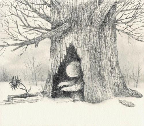 Taking Shelter, graphite on stonehenge paper. Drawing 3... #Dan_May_Art #Arsetculture #Tumblr_Curator