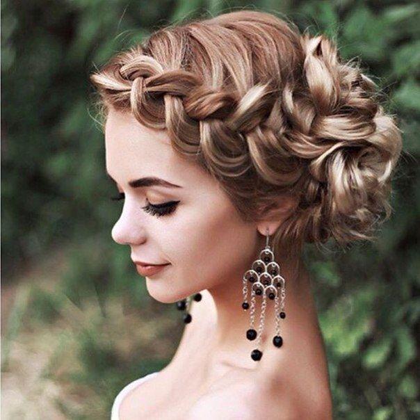 вечерние прически из кос на средние волосы: 26 тыс изображений найдено в Яндекс.Картинках