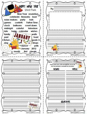 New Year's writing: Crafts Activities Folding, Freebie Sailing, Matching Writing, Writing Templates, Writing Papers, 1St Grades, January Activities, Writing Activities, January Writing