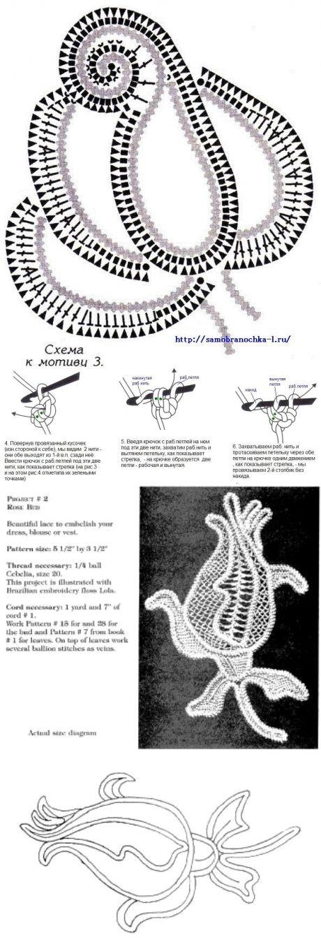 Розочки из шнура-гусенички, связанные крючком.