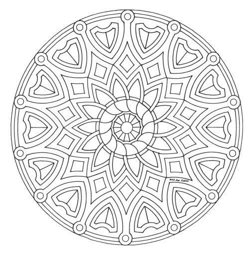 Mandalas para imprimir, colorear y pintar para niños