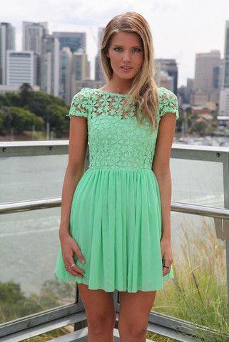 Stitching lace chiffon dress GG716BC – Tepayi