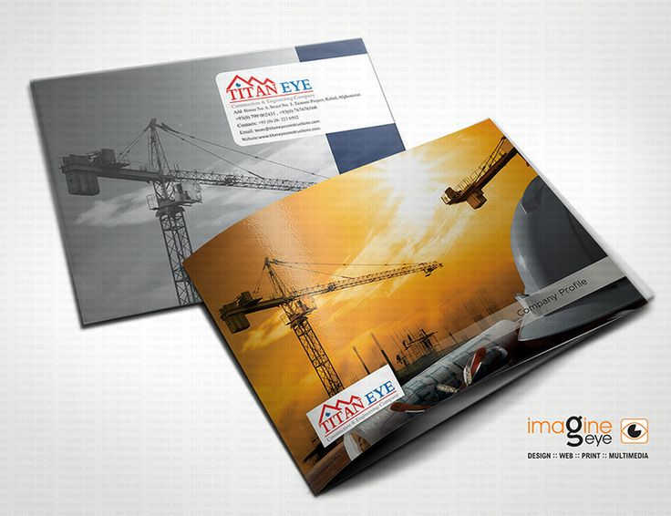Recently design company catalogue for Afganistan Based CLient : Titan Eye : Construction & Engineering Company