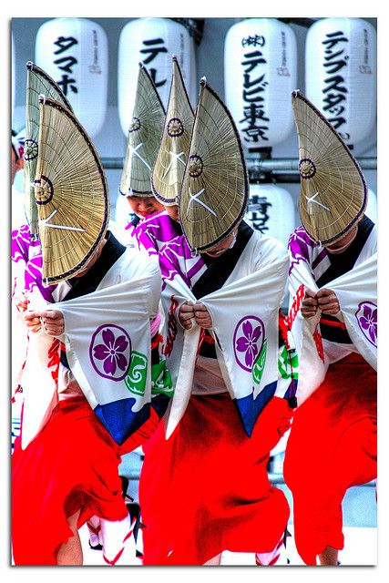 Yosakoi Festival by ஃ முதல் அ வரை, via Flickr #yosakoi, #よさこい