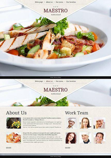 Template 48201 - Restaurant Moto CMS HTML Template