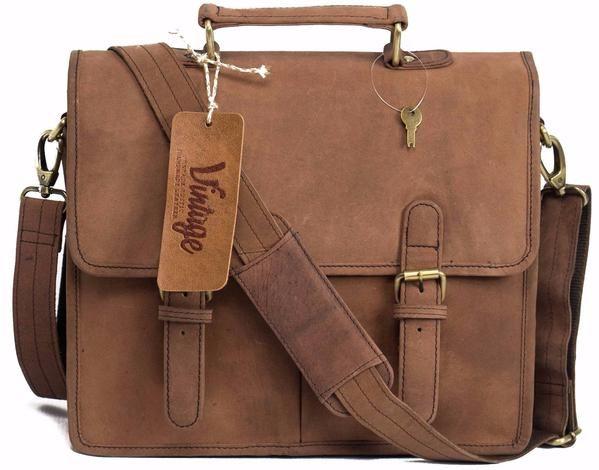 Leather Satchel Denver - Vintage Leather