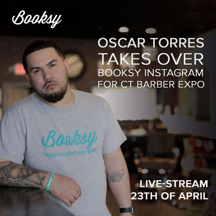 Don't forget to check out booksy instagram on 23th of April to see Oscar Torres!