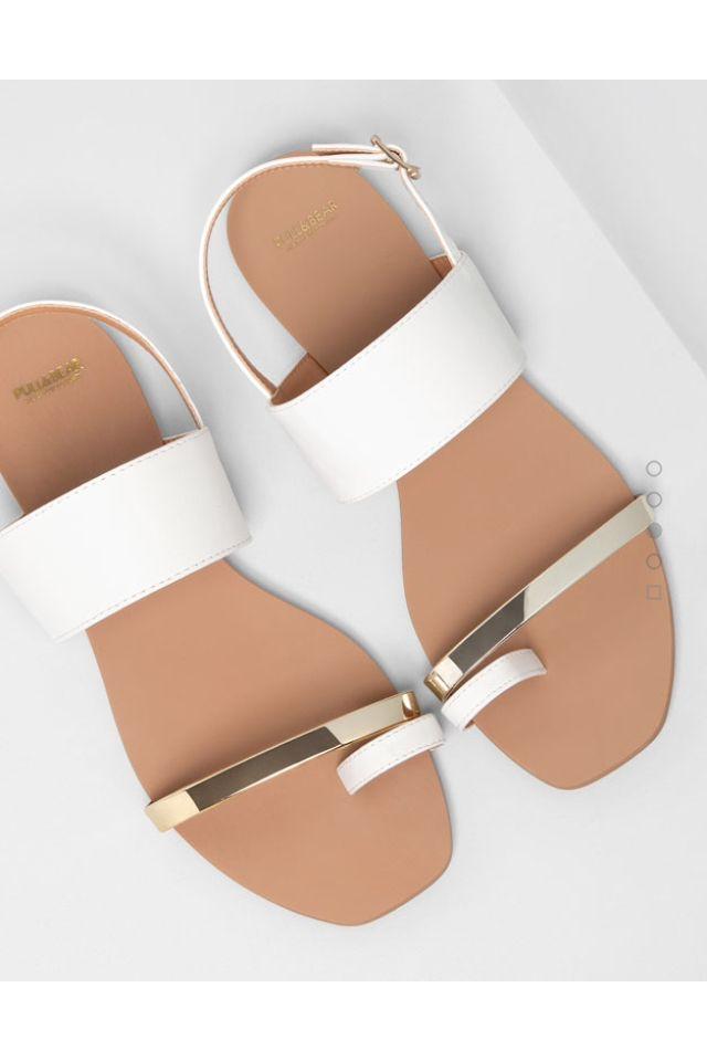 Sandalias blancas pull