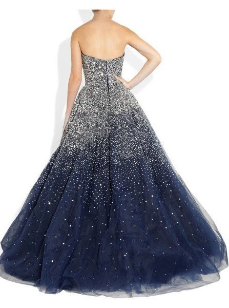 Sparkling Strapless Floor Length Stars Beaded Navy Tulle Prom Dresses 2015 vestidos De Festa Longo Fashion Pegeant DressesWant a glamorous red carpet look for a fraction of the price? This exquisite d..