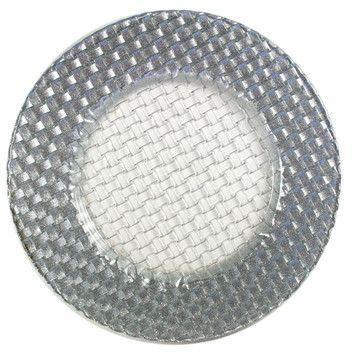 "ChargeIt! 12.5"" Round Braid Glitter Charger Plate Wayfair $10.28"